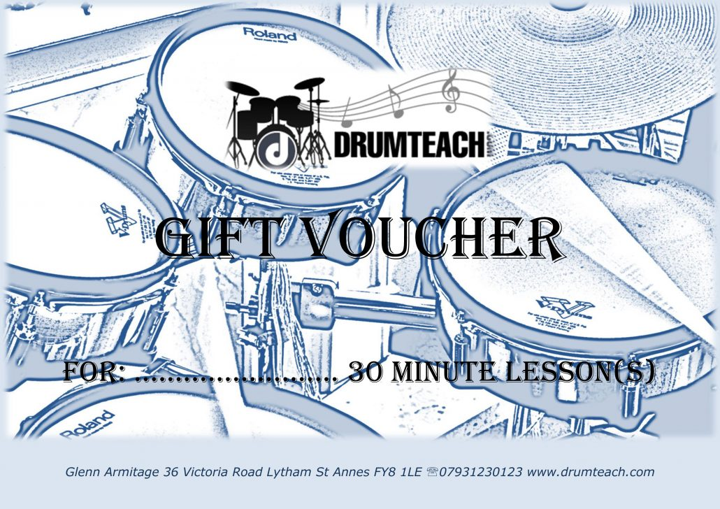 Drumteach gift voucher