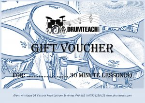 Drumteach gift voucher